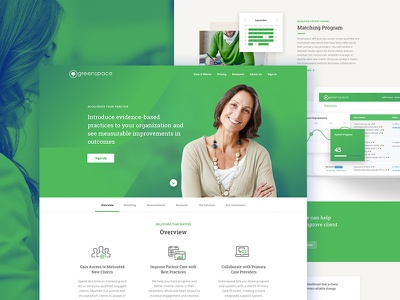 Therapy landing pages dark blue clean line-icons therapy web design beige green