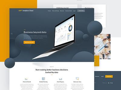 Homepage Rebrand Project minimal bold analytics blue yellow rebrand