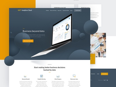 Homepage Rebrand Project minimal bold analytics blue yellow rebrand