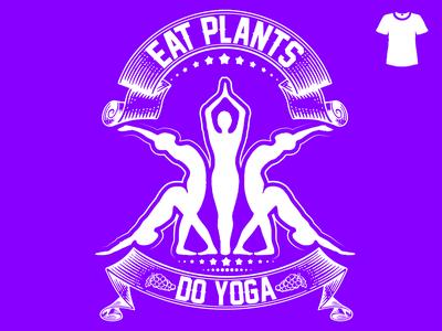 4 veganism vegan health yoga t-shirt vector illustration graphic fashion design clothing clean branding beauty