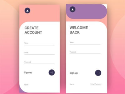 Sign in Sign up Page ux branding ui