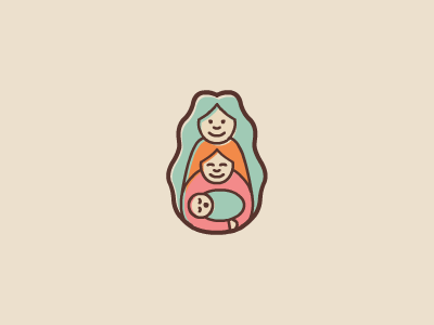 Pachamama Doula pachamama doula earth mother logo design baby mum midwife