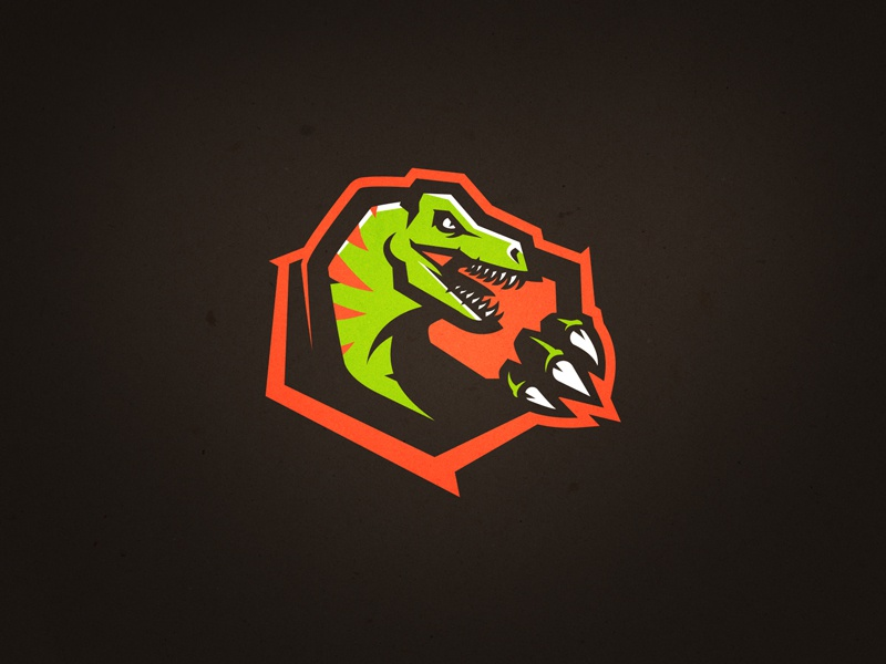 Raptor II hockey basketball football logo sports reptile jurassic park dino dinosaur raptor