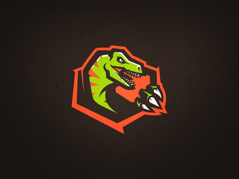 Raptor II hockey basketball football logo sports reptile jurassic park dino dinosaur raptor