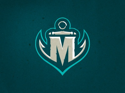 Miami Marauders - Alternate nautical naval pirate sailing sea sports logo logo anchor m miami