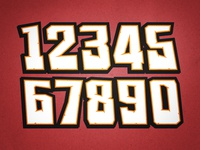 """Racing Numbers - """"Knuckle Dragger"""""""