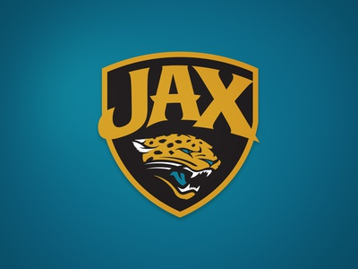Jags Secondary cat type logo teal sports nfl