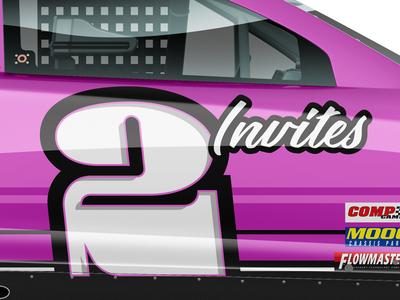 2 Invites! invite invitations invitation invites dribbble nascar racing numbers custom numbers racing livery racing graphics racing numbers