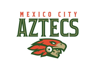 Mexico City Aztecs esports football aztec mayan mexico sports logo logo