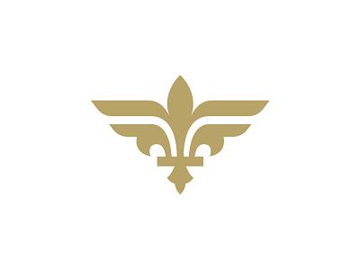 """Paris Ailerons """"Fleur de Wing"""" logo sports sports logo bird planes aviation wings french france fleur de lis"""