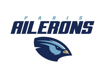 Paris Ailerons paris france sports logo logo football esports bird