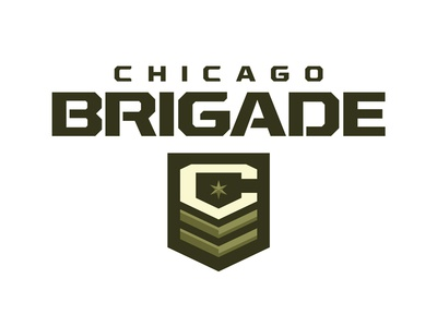 Chicago Brigade wwii war letters stencil logo sports military insignia football chicago c army