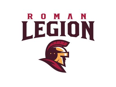 Rome Legion sports logo trojan roman sports spartan rome logo gladiator football esports