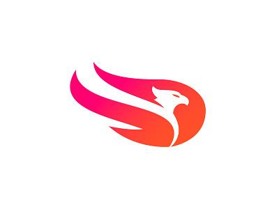 Phoenix esports logo esports tech logo app logo eagle bird arizona hawk flames fire flame phoenix logo illustration sports sports logo