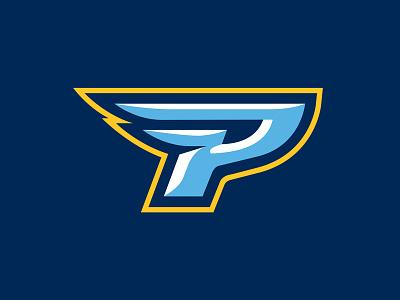 Point University - Alternate Mark wings p design illustration typography football sports logo logo type sports