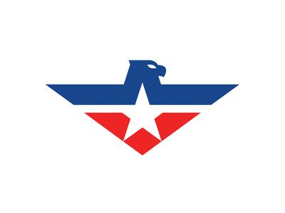 Eagle patriotism patriotic minimal star america eagle usa logo sports sports logo