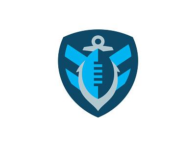 Admirals Football Team Concept ship boat sailing anchor naval navy football sports logo sports logo