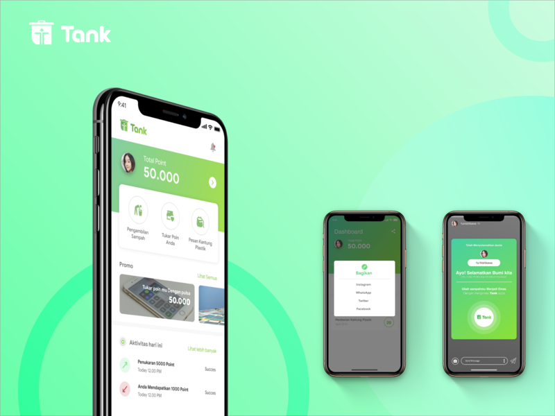 Tank (TrashBank) tank apps trash apps android ui  ux ui flat interaction design vector illustration interace android ui iphone ios dribbble interaction interactions mockups android app