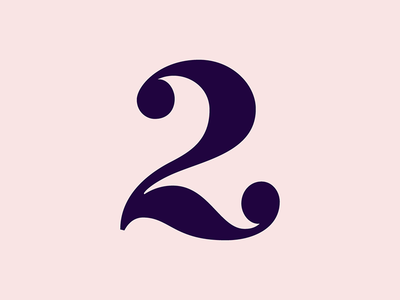 2 - Type experiment bold sexy two 2 number typography type
