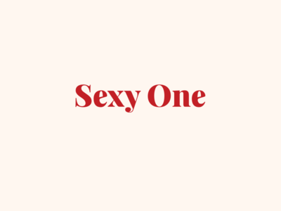 Sexy One new logotype branding redesign ecommerce shop sex sex shop type logotype logo