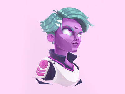 Looking at a new galaxy. color brazil artist art illustrator ilustration galaxy alien ilustrator photoshop character design characterdesign character design illustration