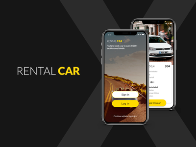 Rental Car Application e-commerce mobile app design mobile app zeplin invision sketch xamarin