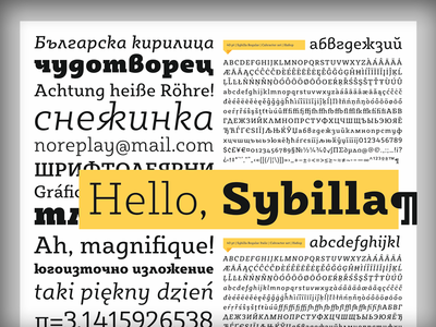 In progress - Sybilla type specimen poster kateliev typeface slab serif cyrillic bulgarian poster
