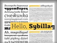 In progress - Sybilla type specimen poster