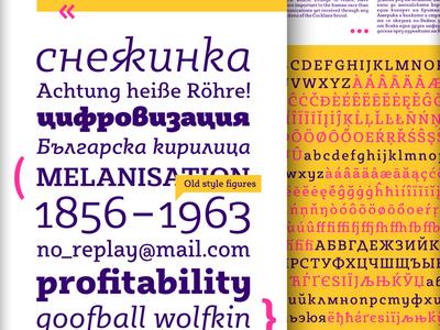 Sybilla on Behance font typeface serif bulgarian cyrillic egyptian friendy headline humanist slab serif upright cursive kateliev