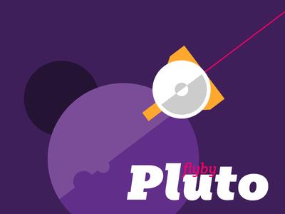 14 July | Pluto FlyBy kateliev slab serif typeface flyby pluto illustration