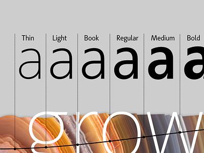 Achates: Growth font design humanist bulgarian glyph type-family type-design kateliev cyrillic typeface