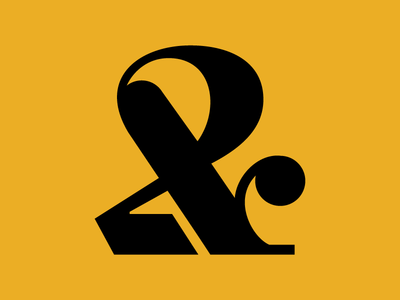 Ampersand made of two