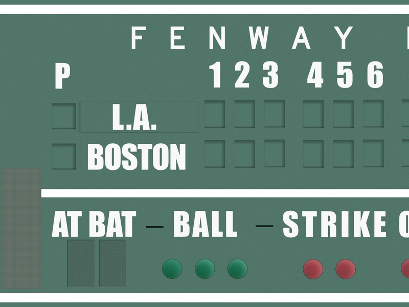 The Green Monstah vector sketch boston boston red soxs fenway park baseball