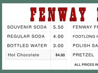 Fenway Favorites Concession Stand
