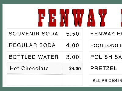 Fenway Favorites Concession Stand vector fenway park sketch red soxs boston baseball