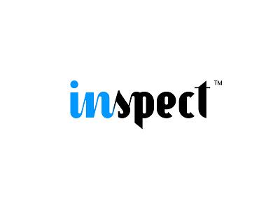 Inspect New letering custom new inspect agency design logo