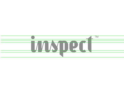 Inspect logo guide line letering custom new inspect agency design logo