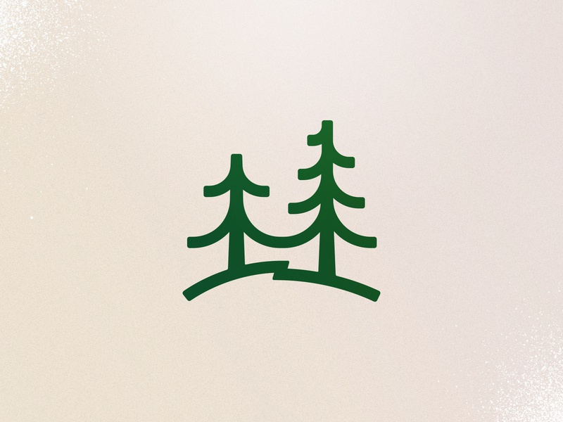 rejected trees lutheran church camp summer camp camp forest trees identity branding logo