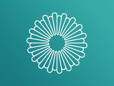 Radial branding monoline logo cycle data visualization circular circle radial