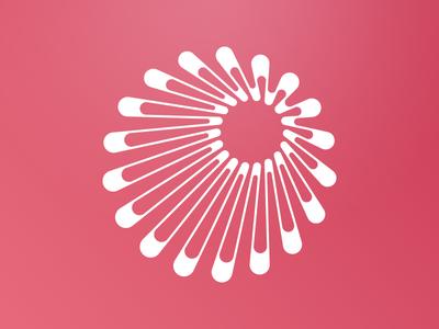 Radial 2 forward radial logo data visualization cycle circular circle branding