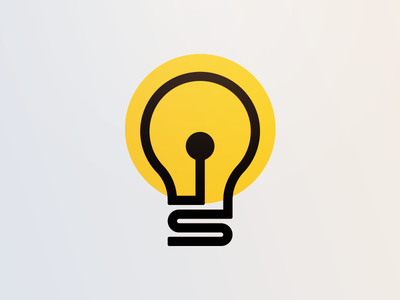 Bulb monoline illumination glow illustration light