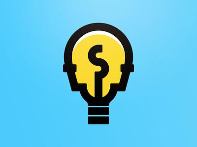 Head head monoline illumination glow illustration light