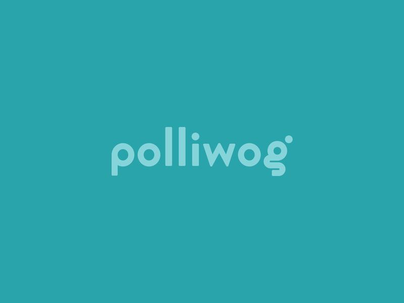 Polliwog childcare child tadpole polliwog children daycare identity branding logo