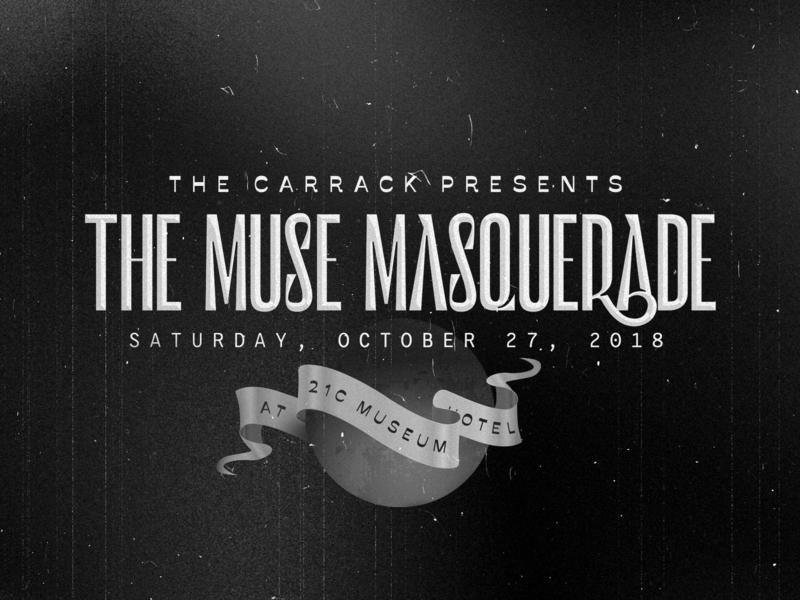The Muse Masquerade retro bull city type iso murmure savate retrofuturism event masquerade durham poster branding