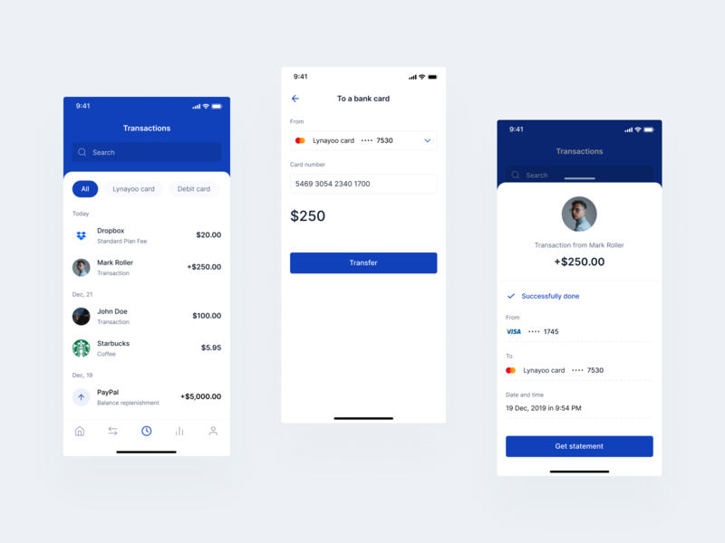 Transactions Mobile Bank bank mobile dashboard finance app uiux product design finance design app ui