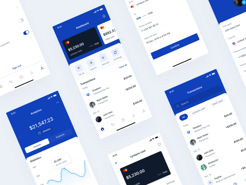 Voulux Mobile Bank UI Kit dashboard mobile bank ui kit finance app uiux product design finance design app ui