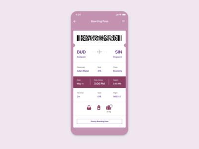 Daily UI 24 — Boarding Pass