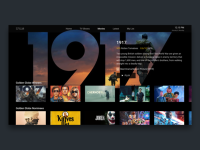 Daily UI 25 — TV App