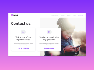 Daily UI 28 — Contact us
