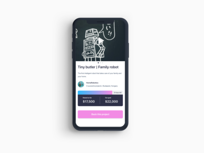 Daily UI 32 — Crowdfunding Campaign